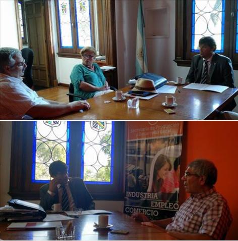 Autoridades de CEIL con el Secretario de Producción de la Municipalidad