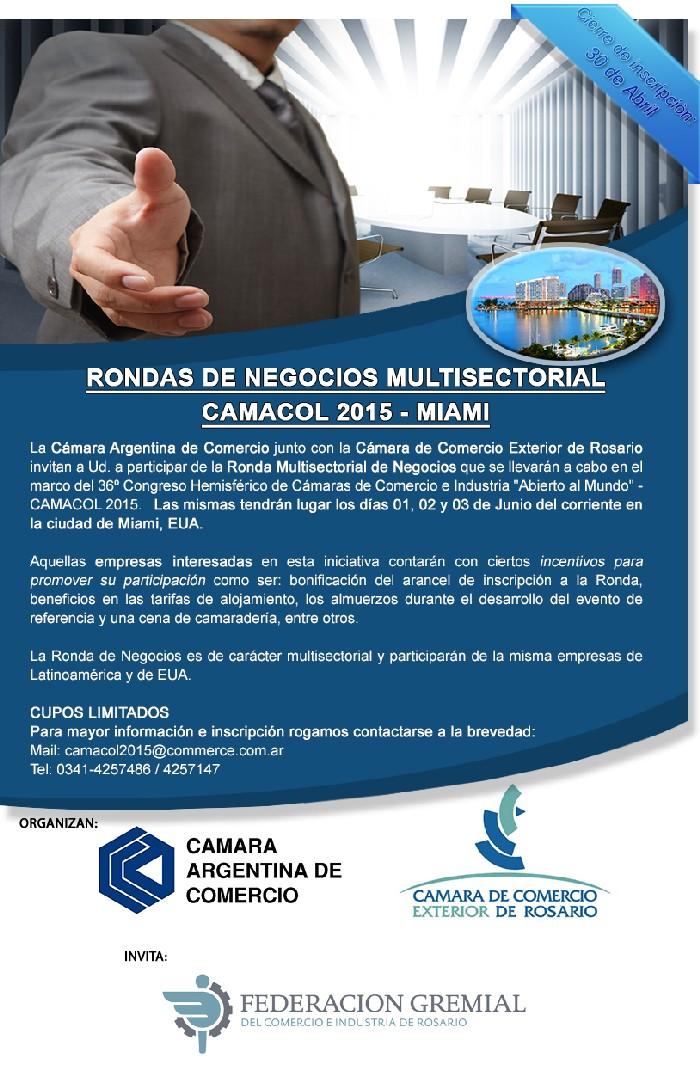 Rondas de negocios multisectorial CAMACOL 2015